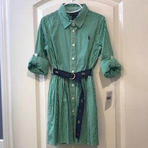 NWT-Ralph Lauren Girls SZ. 7 button down dress.
